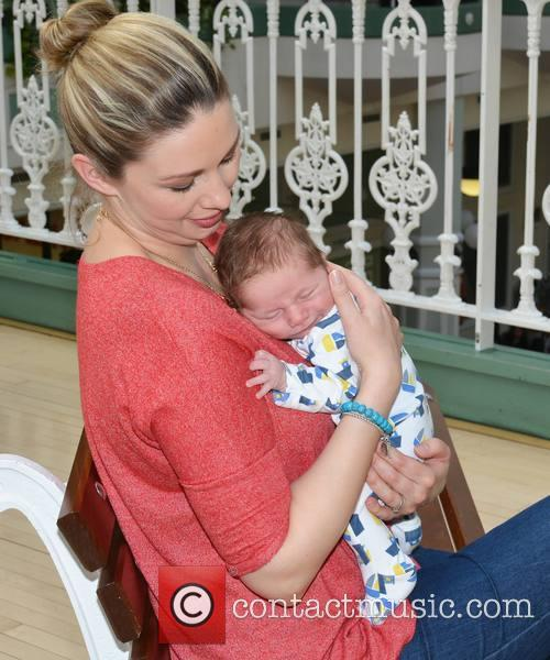 TV3 Presenter Anna Daly with her 3 week...
