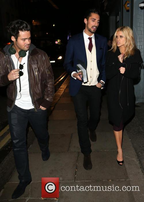Spencer Matthews, Hugo Taylor and Ashley Roberts 2