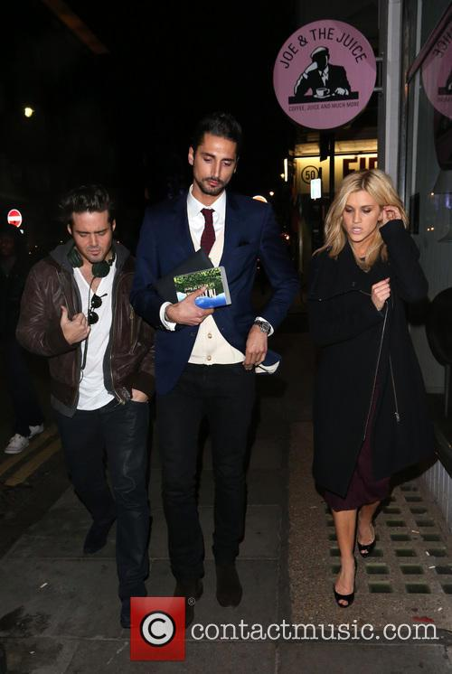 Spencer Matthews, Hugo Taylor and Ashley Roberts 5