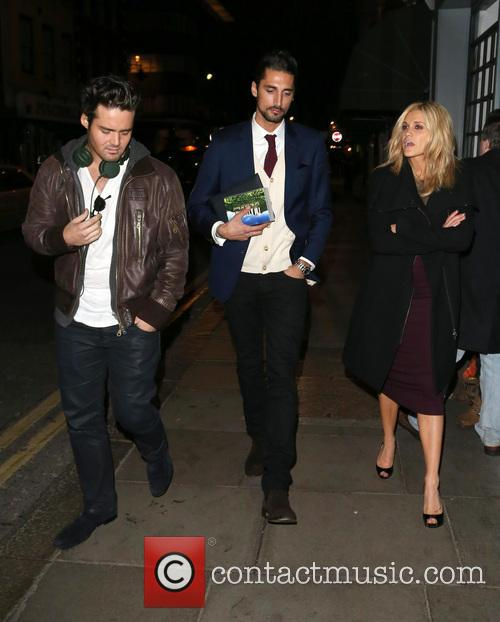 Spencer Matthews, Hugo Taylor and Ashley Roberts 1