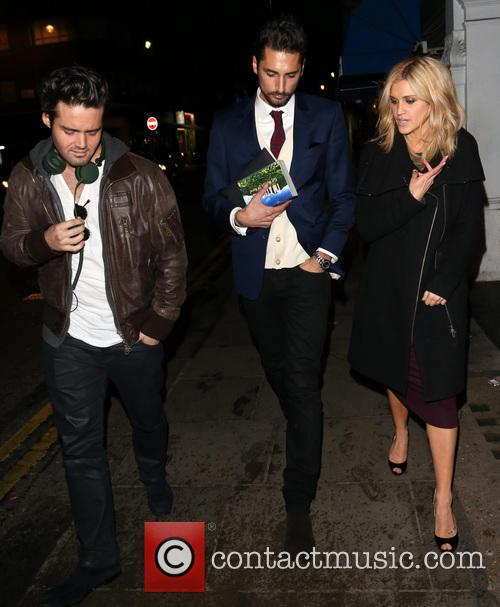 Spencer Matthews, Hugo Taylor and Ashley Roberts 9