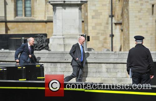 Body of former Prime Minister Margaret Thatcher arrives...
