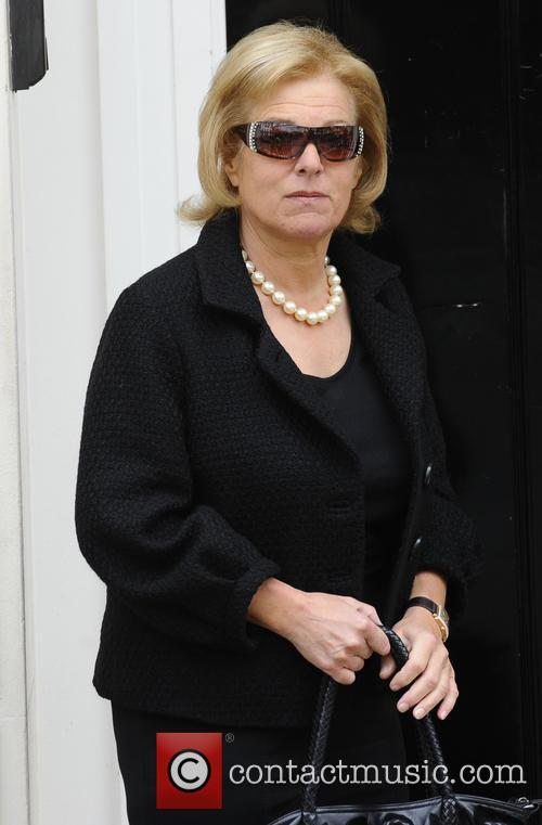 Carol Thatcher arrives at her late mother Margaret Thatcher's house