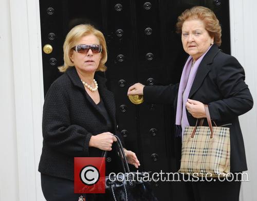 Carol Thatcher arrives at her late mother Margaret...