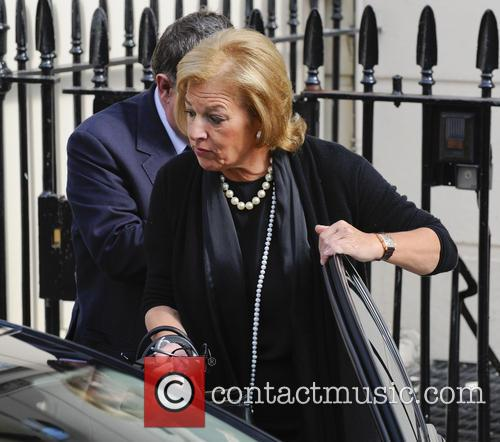 Carol Thatcher departs her late mother Margaret Thatcher's house