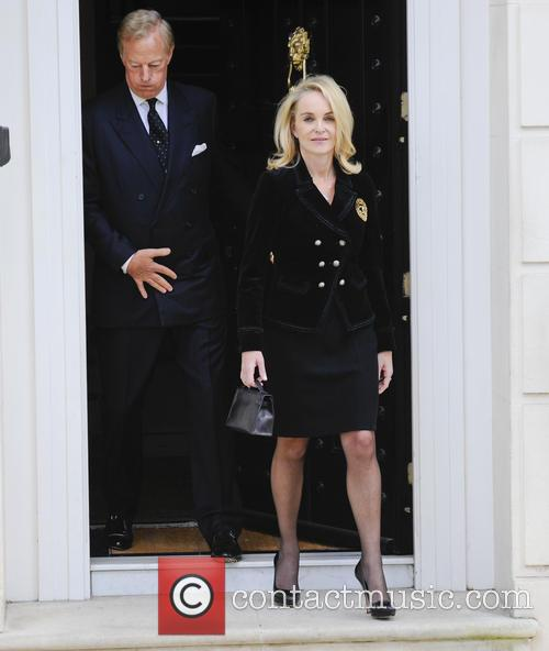 Sir Mark Thatcher and Sarah Jane leaving Margaret...