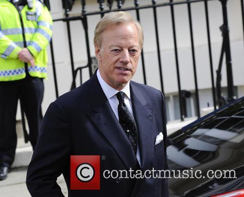 Sir Mark Thatcher leaving Margaret Thatcher's house