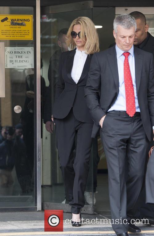 Sarah Harding leaves Highbury Magistrates Court