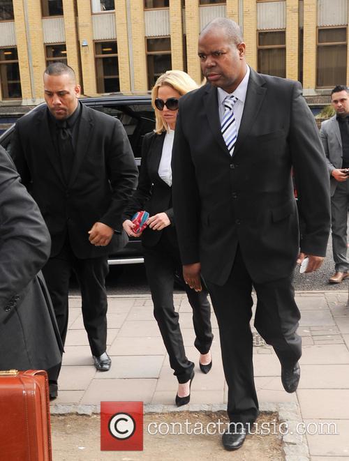 Sarah Harding leaves Highbury Magistrates' Court