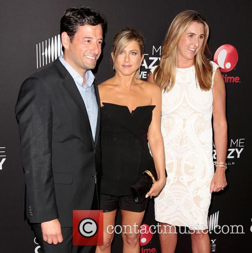 Robert Sharenow, Jennifer Aniston and Nancy Dubuc