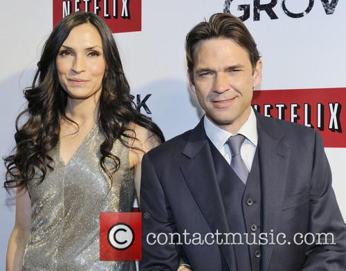 Famke Janssen and Dougray Scott - Hemlock Grove actors at Toronto premiere