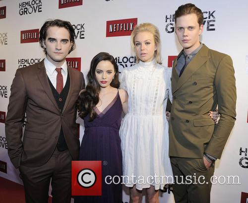 Landon Liboiron, Freya Tingley, Penelope Mitchell and Bill Skarsgard - Hemlock Grove actors at Toronto premiere