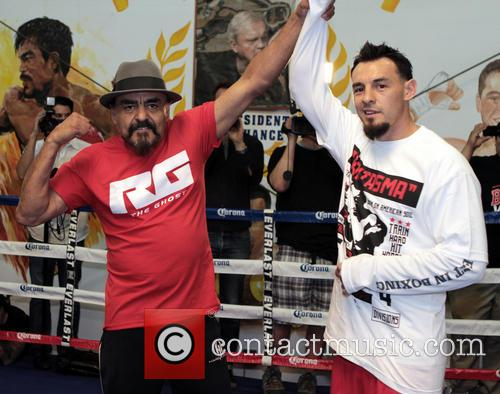 Las Vegas, Rubin Guerrero Father/trainer and Son Robert Guerrero 4