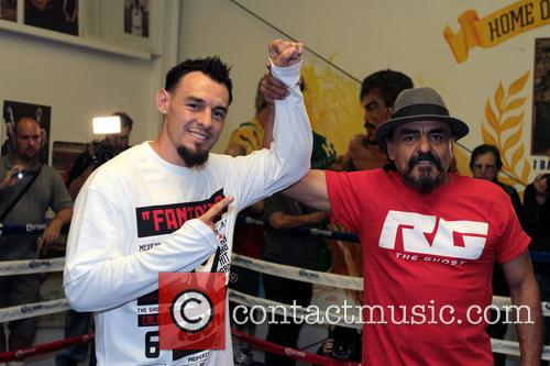Las Vegas, Rubin Guerrero Father/trainer and Son Robert Guerrero 9