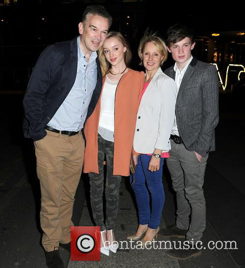 Sally Dynevor, Tim Dynevor, Phoebe Dynevor and Samuel Dynevor