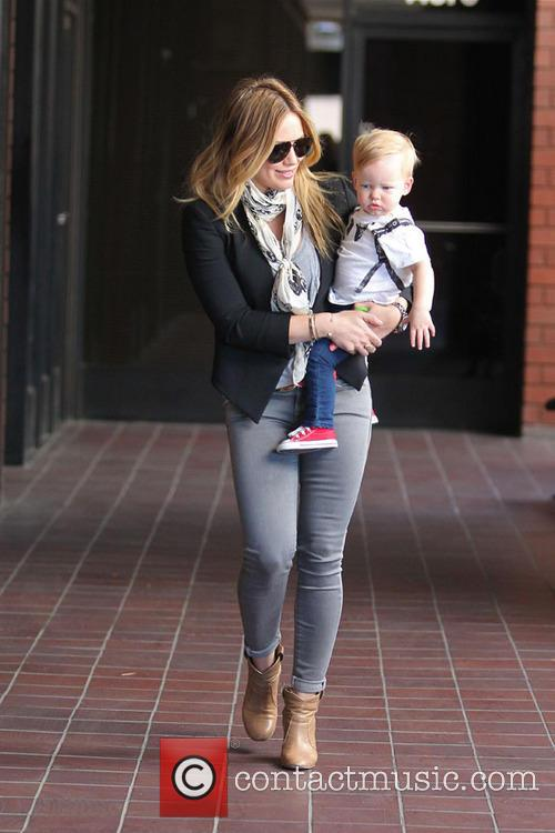 Hilary Duff and her son Luca Comrie are...
