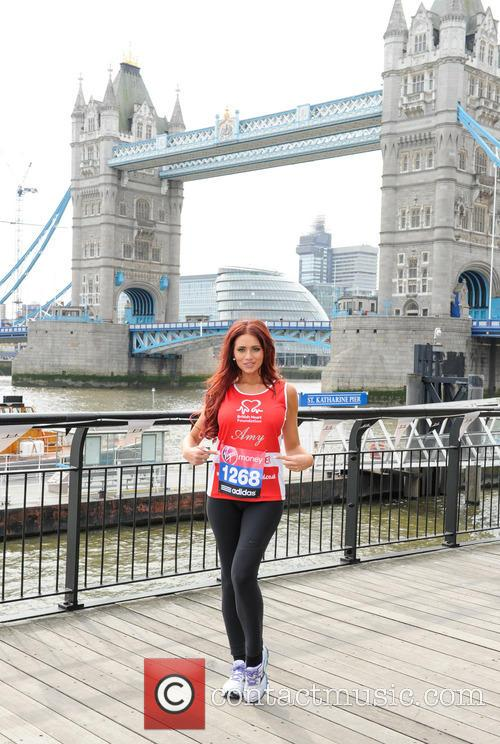 amy childs london marathon photocall 3611811