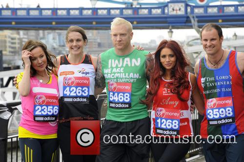Amanda Mealing, Kelly Sotherton, Iwan Thomas, Amy Childs and Andrew Strauss