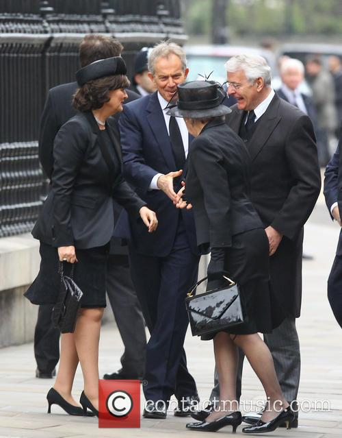 John Major, Norma Major, Tony Blair and Cherie Blair 3