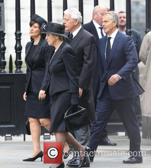 John Major, Norma Major, Tony Blair, Cherie Blair, St Pauls Cathedral