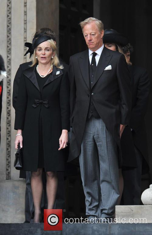 mark thatcher sarah russell guests leave st pauls 3611562
