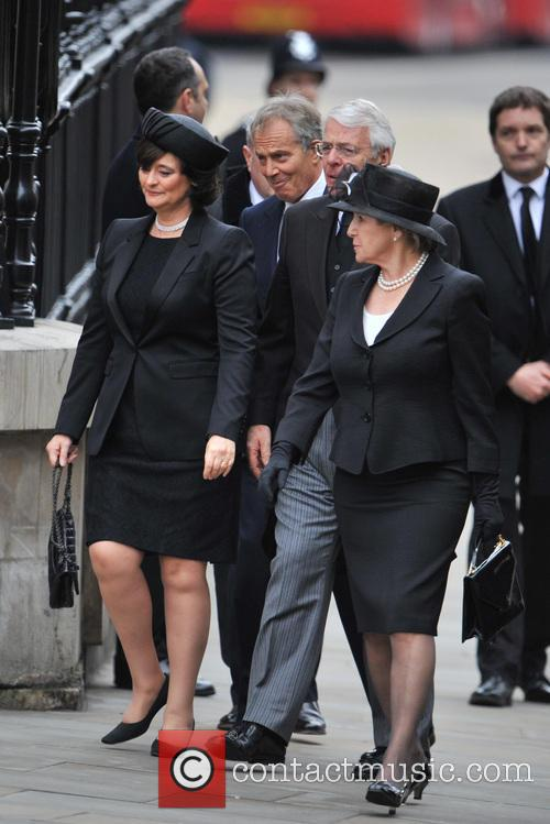 tony blair wife cherie booth john major wife norma guests 3611548