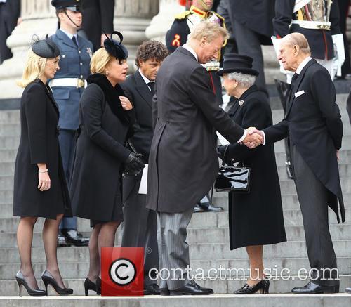 Hm Queen Elizabeth, Duke Of Edinburgh, Mark Thatcher, Sarah Jane Russell, Carol Thatcher, Marco Grass and Queen Elizabeth Ii 8