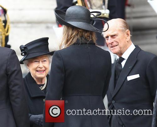 Margaret Thatcher, HM Queen Elizabeth, Amanda Thatcher, Duke of Edinburgh, St Pauls Cathedral