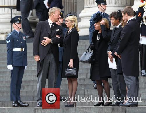 Mark Thatcher, Sarah Jane Russell, Carol Thatcher, Marco Grass, Michael Thatcher, St Pauls Cathedral