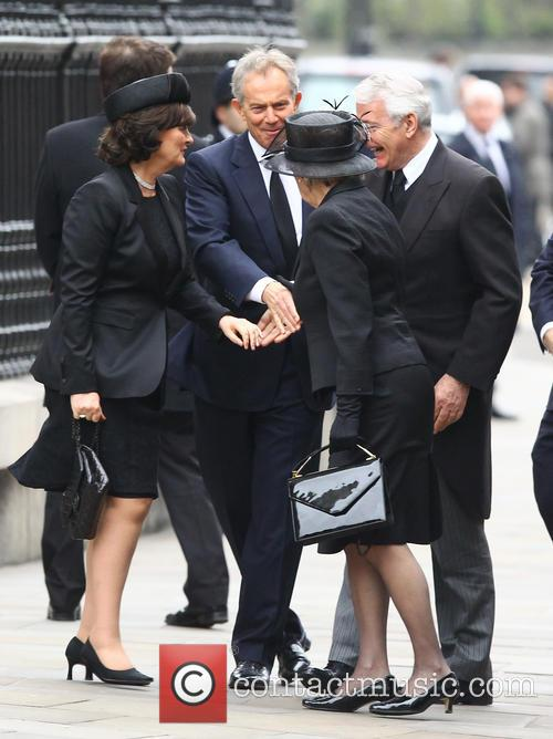 John Major, Norma Major, Tony Blair and Cherie Blair 1