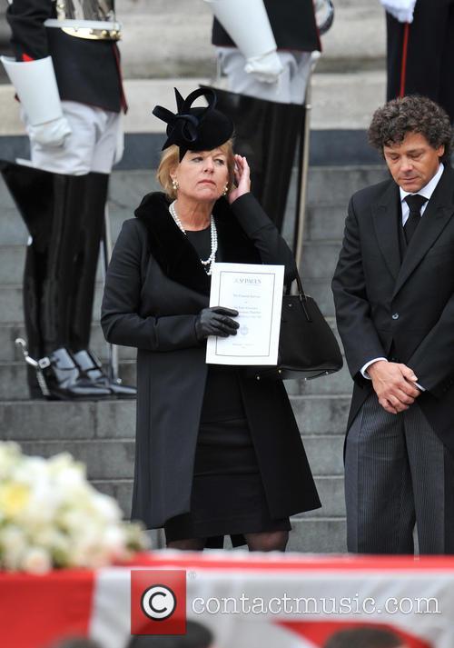 carol thatcher margaret thatchers funeral 3612005
