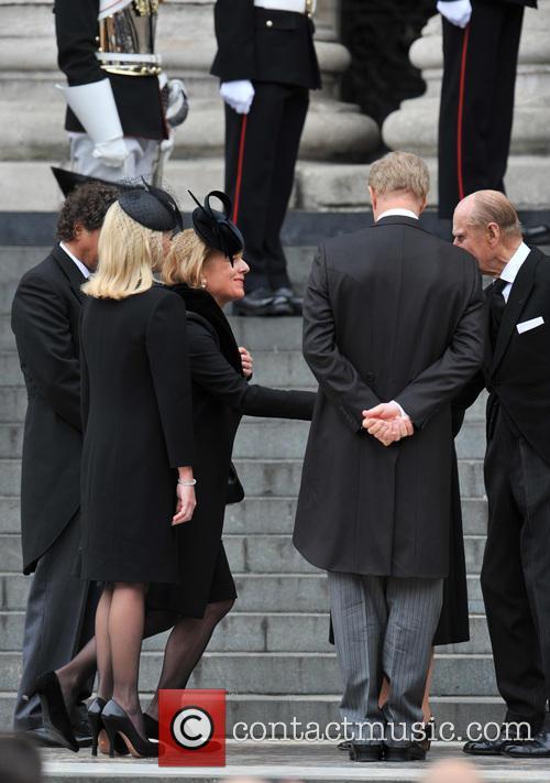 Carol Thatcher, Sarah Thatcher, Mark Thatcher, Prince Philip