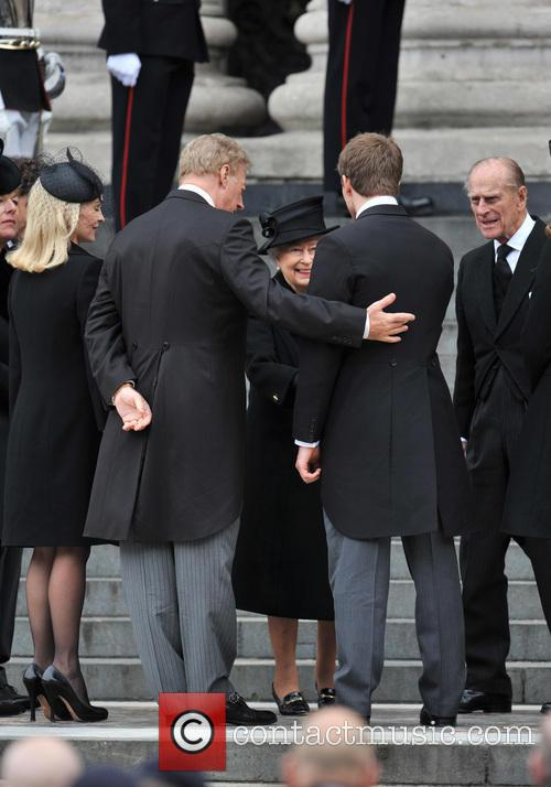 Sarah Thatcher, Mark Thatcher, Prince Philip and Queen Elizabeth Ii 5
