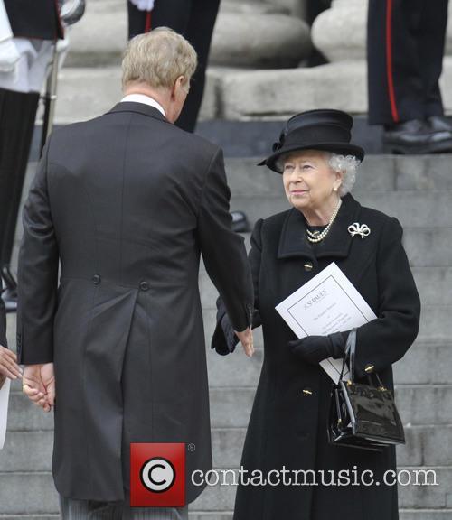 queen elizabeth mark thatcher margaret thatchers funeral 3612228