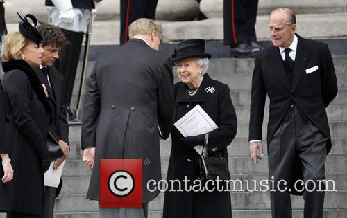Queen Elizabeth, Prince Philip and Mark Thatcher 2