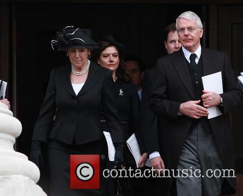 former prime minister john major norma major margaret thatchers 3611414
