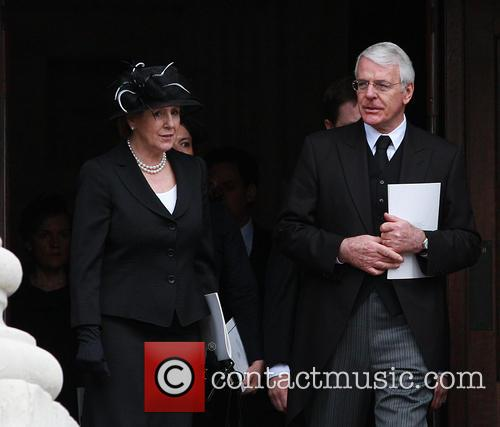 former prime minister john major norma major margaret thatchers 3611423