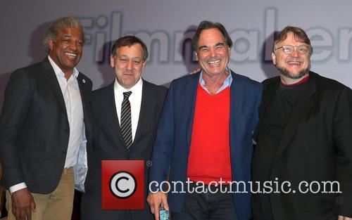 Elvis Mitchell, Sam Raimi, Oliver Stone and Guillermo Del Toro 2