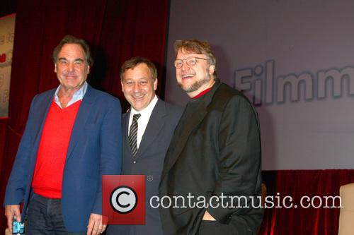 Oliver Stone, Sam Raimi and Guillermo Del Toro 2
