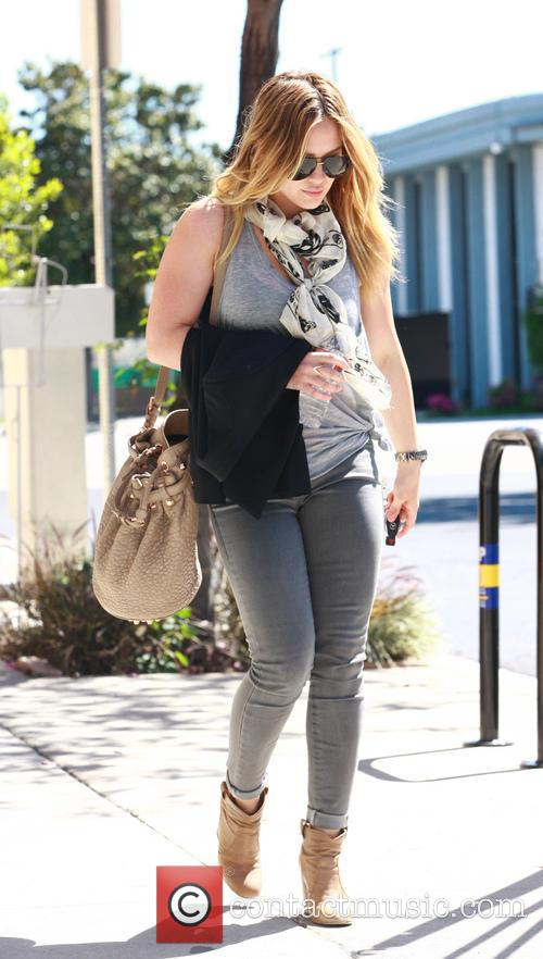 Hilary Duff out in Toluca Lake