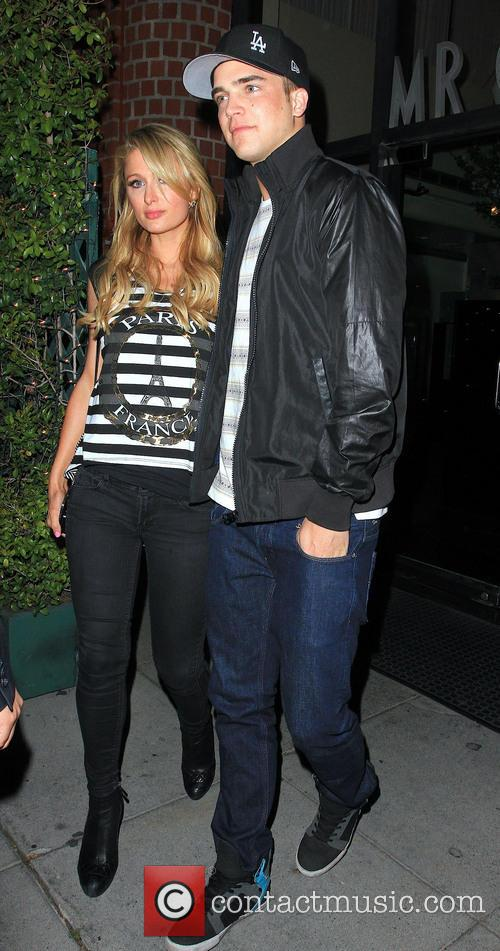 Paris Hilton and boyfriend River Viiperi outside Mr...
