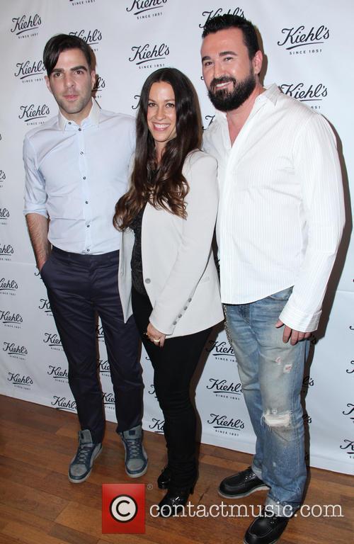 Zachary Quinto, Alanis Morissette and Chris Salgardo 1