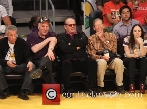 Celebrities watching Houston Rockets vs Los Angeles Lakers