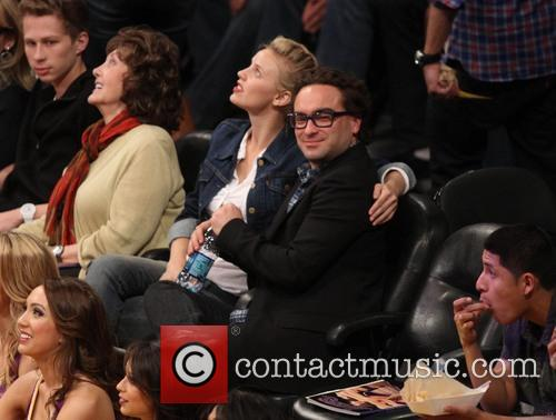 Johnny Galecki and Kelli Garner 2