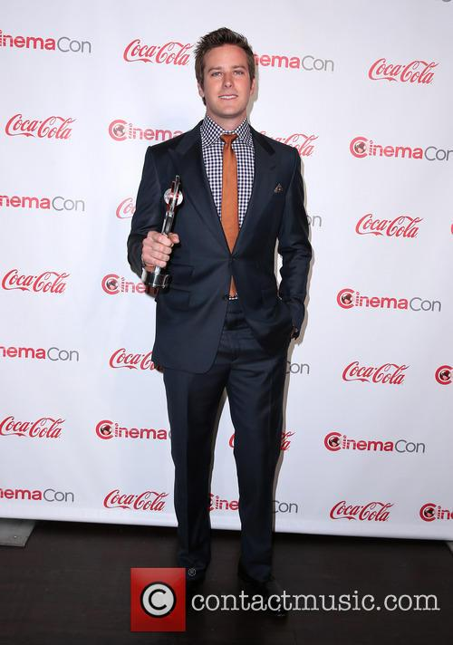 Armie Hammer at CinemaCon Big Screen Achievement Awards