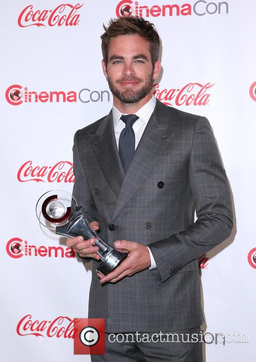 Chris Pine at CinemaCon Big Screen Achievement Awards