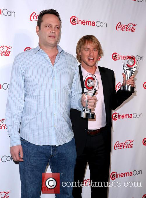 Vince Vaughn and Owen Wilson at CinemaCon Big Screen Achievement Awards