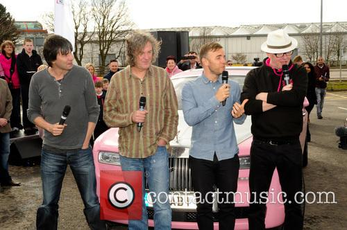 Professor Brian Cox, James May, Gary Barlow and Chris Evans 2