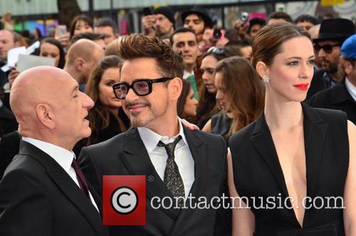 Sir Ben Kingsley, Robert Downey Jr and Rebecca Hall 3