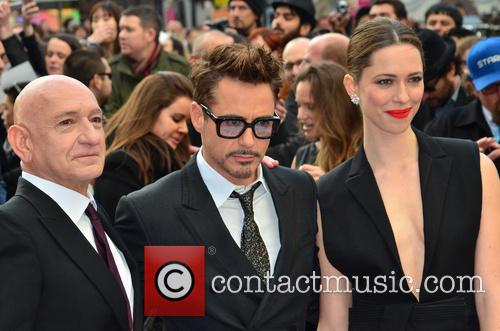Sir Ben Kingsley, Robert Downey Jr and Rebecca Hall 4